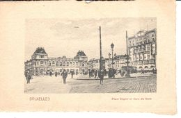 Bruxelles - Brussel - Place Rogier Et Gare Du Nord - Marktpleinen, Pleinen