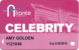 Aliante Casino Las Vegas - Celebrity Slot Card With 1-800-692-7777 Phone# - Casino Cards