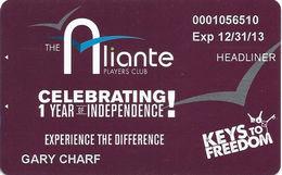 Aliante Casino Las Vegas - Heaadliner 1 Yr Anniversary Slot Card - Casino Cards