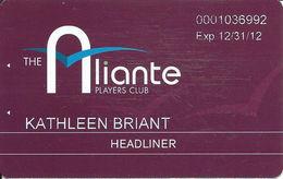 Aliante Casino Las Vegas - Headliner Slot Card With 1-800-692-7777 Phone# - Casino Cards