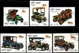 """Socialist Republic Of Vietnam 1984 """"Old Types Of Cars"""" 6v (incomplete) Quality:100% - Vietnam"""