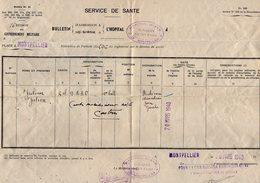 VP12.755 - MILITARIA - Guerre 39/45 - Lettre En Franchise Militaire - Hopital De MONTPELLIER Pour CASTRES - Documents