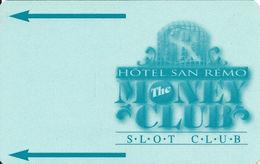 Hotel San Remo Casino - Las Vegas, NV - BLANK Slot Card - Casino Cards