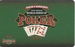 Binion's Horseshoe Casino Las Vegas 32nd Annual WSOP 2001 (blank) - Casino Cards