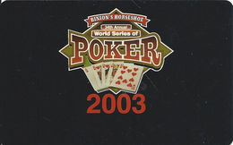 Binion's Horseshoe Casino Las Vegas WSOP 2003 (blank) - Casino Cards