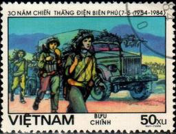"Social Rep Of Vietnam 1984 ""30 Anniv Of The Battle Of Dien Brien Phu. Night March"" 1v (incomplete) Quality:100% - Vietnam"