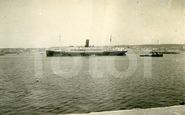 30s REAL PHOTO FOTO PAQUETE LINER SHIP LEIXÕES PORTUGAL Ms114 - Boats