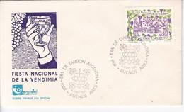 FIESTA NACIONAL DE LA VENDIMIA, FDC 1982. ARGENTINE- BLEUP - FDC
