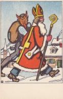 AK - Gruss Vom Krampus U. Nikolo - 1930 - Autres