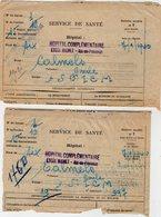 VP12.757 - MILITARIA - Guerre 39/45 - 2 Lettres En Franchise Militaire - Hopital D'AIX EN PROVENCE Pour TOULON - Documents