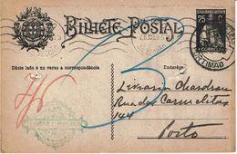 Portugal , 1928 , Stationery , Entier , Ceres 25 C , Portimão Postmark , Livraria Pedro Dias Advertising - Ganzsachen