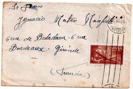 Lettre D'espagne  Pour La    France.   1961 - 1951-60 Briefe U. Dokumente