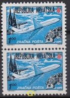 Croatia 1991 Air Stamp, Error - At Lower Stamp Is Black Dot Under Letter A, MNH (**) Michel 179 - Croatie