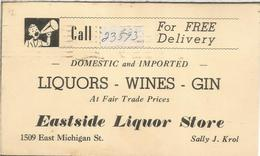ESTADOS UNIDOS USA 1952 ENTERO POSTAL PUBLICIDAD VINO LICOR GINEBRA WINE GIN LIQUORS - Vinos Y Alcoholes