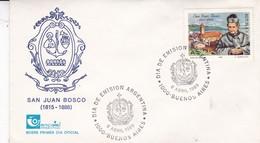 SAN JUAN BOSCO. FDC 1989, BUENOS AIRES ARGENTINA.- BLEUP - FDC