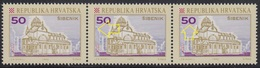 Croatia 1992 Sibenik, Error - Blue Dot At 2nd And 3rd Stamp, MNH (**) Michel 196 - Croatie