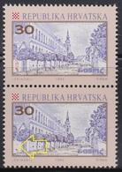 Croatia 1992 Gospic, Error - Lower Stamp Without HPT, MNH (**) Michel 198 - Kroatien