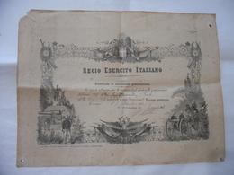 REGIO ESERCITO CERTIFICATO OSSERVATORE GONIOMETRISTA 1907 CAPORAL MAGG.MONETTI - Diplomi E Pagelle