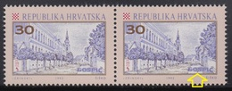 Croatia 1992 Gospic, Error - At 2nd Stamp Is Dot Between Letter O And S, MNH (**) Michel 198 - Croatie
