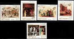 "Socialist Republic Of Vietnam 1989 ""200 Anniv. Of The French Revolution"" 5v (incomplete) - Vietnam"
