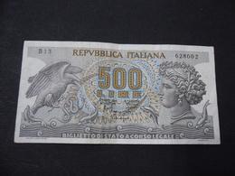 REPUBBLICA ITALIANA 500 LIRE ARETUSA SERIE B 1966 - [ 2] 1946-… : Repubblica