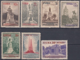 1960.251 CUBA 1960 MNH Ed.814-20 MNH RETIRO DE COMUNICACIONES, PARQUES Y MONUMENTOS. 7,99 - Nuevos