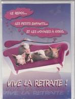 CARTE DE VOEUX - VIVE LA RETRAITE - Non Ecrit - Faire-part