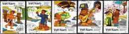 "Socialist Republic Of Vietnam 1990 ""The Legend Of Thach Sahn"" 5v ( Incomplete) Quality:100% - Vietnam"