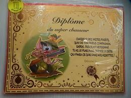 CARTE DE VOEUX - DIPLOME DU SUPER CHASSEUR - Non Ecrit - Faire-part