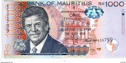 Mauritius P.63 1000 Rupees 2016 Unc - Mauritius