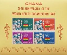 Ghana 1966 World Health Organization  20th. Anniv. S/S - Ghana (1957-...)