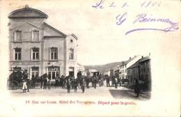 Han Sur Lesse - Hôtel Des Voyageurs. Départ Pour La Grotte (animée, Café, 1902, Tagnon Jacques) - Rochefort