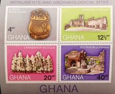 Ghana 1970 Monuments And Archaeological Sites S/S - Ghana (1957-...)