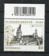 Österreich   2018 , EUROPA CEPT Brücken - Postfrisch / MNH / (**) - 2018