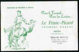 BUVARD Textile - LE FRANC-PICARD - Pour Le Travail Et Les Loisirs - Textile & Clothing