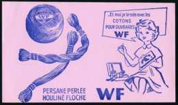 BUVARD - Textile - Cotons Pour Ouvrages W F - Textile & Clothing