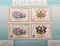 Ghana 1969 3rd.Anniv. Of The Revolution S/S - Ghana (1957-...)