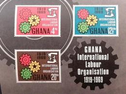 Ghana 1970 International Labour  Organisation  50th. Anniv. S/S - Ghana (1957-...)