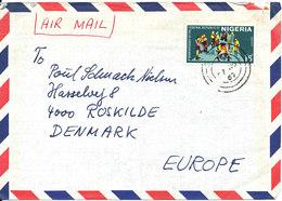 Nigeria Air Mail Cover Sent To Denmark 1967 Single Franked - Nigeria (1961-...)