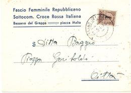 Biglietto Intestato Fascio Femminile Repubblicano Per Indumenti Per Militari Prigionieri In Germania - 1944-45 République Sociale