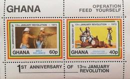Ghana 1973 1st Anniv. Of 13th. January Revolution S/S - Ghana (1957-...)