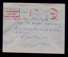 """""""Todos Unidos Tornamos ANGOLA Melhor"""" Craveiro Lopes Aeroport EMA 1971 (ou 4!) Portugal War Publicitary Slogan Pmk G3538 - Angola"""