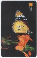 Telefoonkaart.- Oman. - Plain Tiger - Phonecard - Telecard - Used Card - Vlinder. - Vlinders