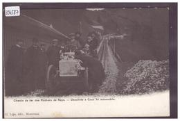 DISTRICT DE VEVEY - CAUX - DESCENTE EN AUTOMOBILE MARTINI DE LA LIGNE DES ROCHERS DE NAYE - TB - VD Vaud
