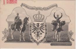 57 - METZ - SUPERBE CARTE DU RGT. DE DRAGONS CARL DE ROUMANIE - Metz