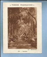 Chromo Terres Françaises En Afrique La Réunion 29 Jardins 2 Scans - Chromos