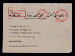 """""""Todos Unidos Tornamos ANGOLA Melhor"""" Front Cover CLUB NAVAL De LUANDA Portugal EMA Colonial War Publicitary Slogan 3539 - Angola"""