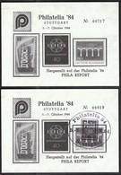 Germany 1984 / Stuttgart / Philatelia '84 / Philatelic Exhibition / Europa CEPT / Vignette, Cinderella - Expositions Philatéliques