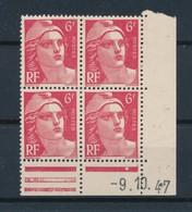 FRANCE - COIN DATE DU 9/10/1947 N°YT 721A NEUF** SANS CHARNIERE  - COTE YT : 2€ - - 1940-1949
