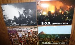 4 Cartes Postales : S.O.S. Longwy - Longwy Vivra (1979) - Evènements